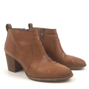 Madewell tan leather ankle boot bootie Brenner